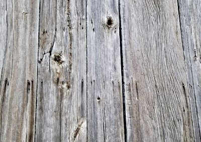 Weathered Grey Barn Siding Naturally weathered for 100 plus years to give each board a unique look. There is no stain or paint on the material, just a natural grey color.