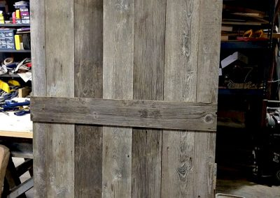 original doors and hardware from the barns for reuse