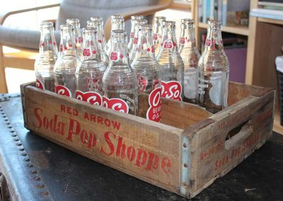 O-So Soda Pop Bottles in Wooden Case