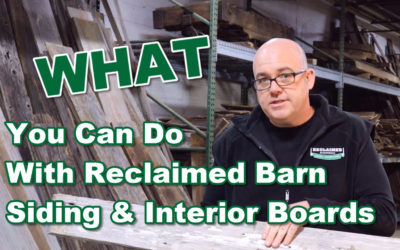 What You Can Do With Reclaimed Barn Siding and Interior Boards